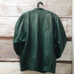 Danier Jackets & Coats - 90s style green leather jacket // Danier